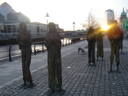 famine statues of Dublin UK