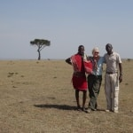 Louis and my Masai lion tracking guide in Kenya