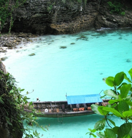 Savor quiet moments at a hidden cove in Thailand