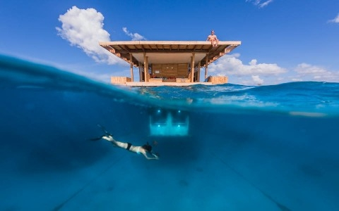 sleep underwater in Zanzibar East AFrica