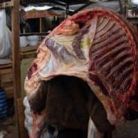Cusco meat market Peru