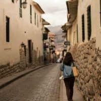 Cusco street scene Peru