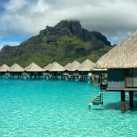 Overwater-Bungalow in Tahiti