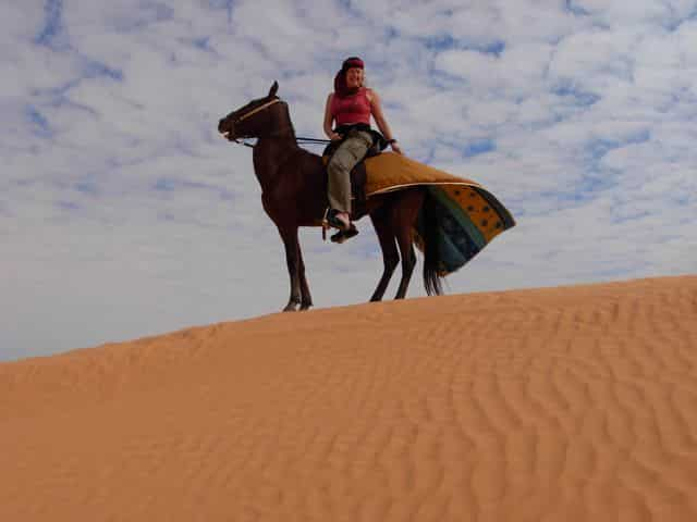 horseback riding in Tunisian desert