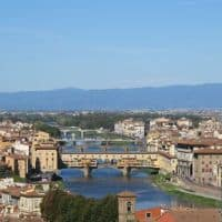 aerial view of Florence italy