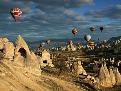 ballooning over Cappadocia Turkey