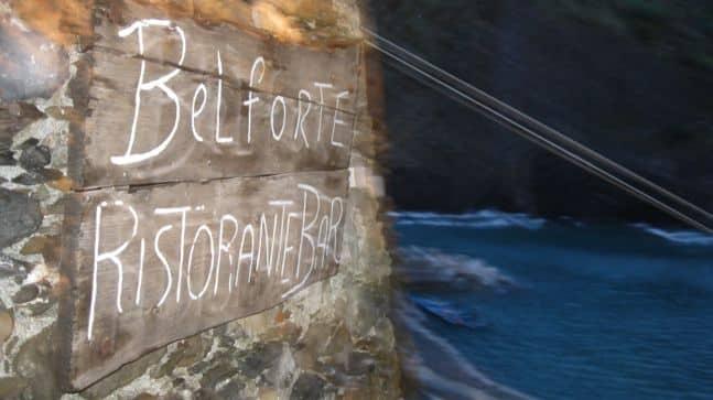 belforte restaurant in cinque terre Italy