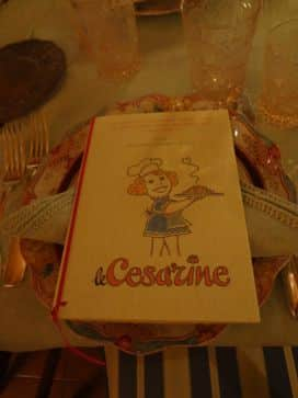 cesarine menu italy