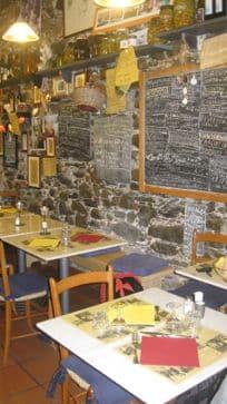 chalkboard menus in cinque terre italy