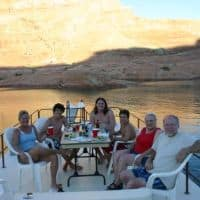 dinner on the houseboat in Lake Powell American Southwest