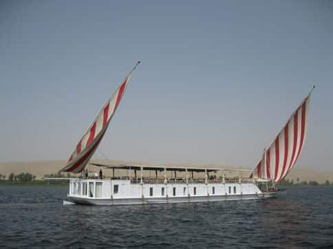 sailing on 19th century dahaybieh on the Nile