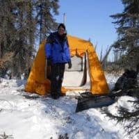 heated tent for dogsled overnight Alaska