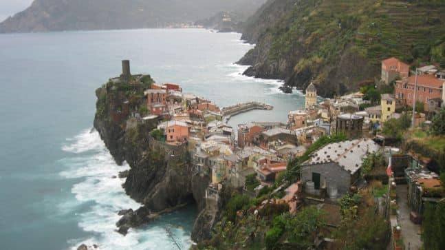 looking north on Cinque Terre