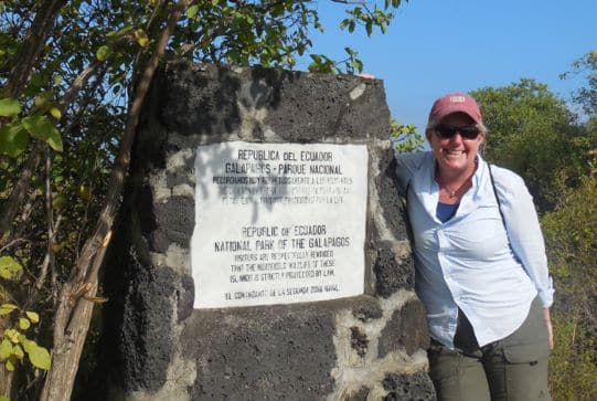 me at galapagos park sign