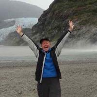 hiking Mendenhall Glacier in Alaska