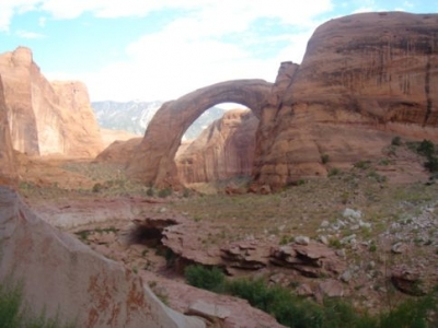 rainbow bridge at lake powell American Southwest