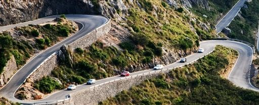 roads of Mallorca Spain