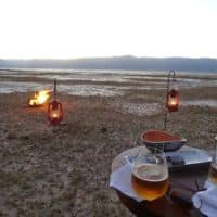 sundowners on Safari in tanzania