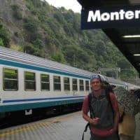 train through Cinque Terre italy
