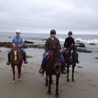 carol on horseback