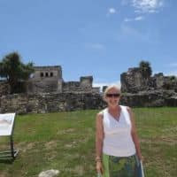 me at Tulum, a side trip from Isla Mujers
