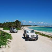 driving on Mayan Riviera