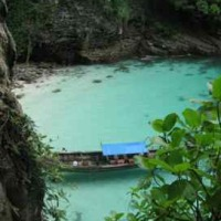 remote cove in Thailand