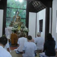 visiting monastery in Thailand