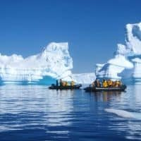 icebergs on Quark expedition Antarctica