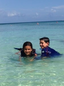 photo of kids in water