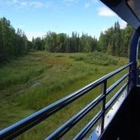 open air platform on alaska trail