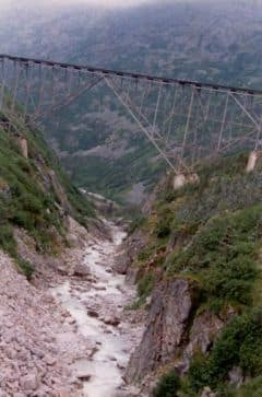 railroad trestle on Alaska railroad