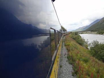 reflection on Alaska trail