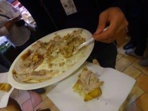 slow roasted ham atop white pizza! Italy