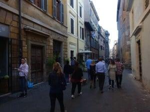 food walk thru Trastevere Italy