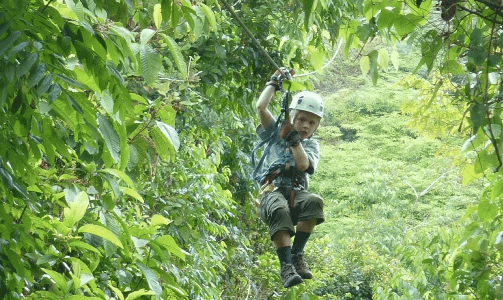 ziplining in Corcovado Costa Rica