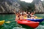 kayaking fun at Halong Bay camp Thailand