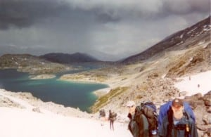 the surreal teal lakes of Chilkoot Trail Alaska