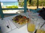 Shrimp lunch at Mamas Antigua