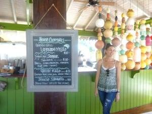 menus at Erins Garden Grill Antigua