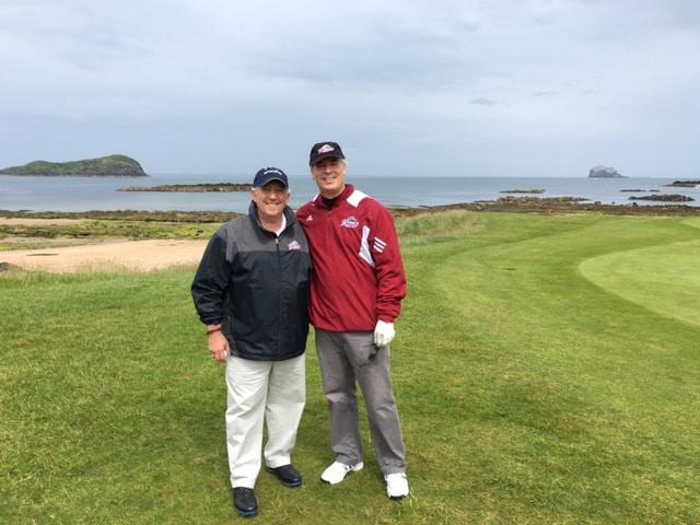 Golfing links East Lothian UK