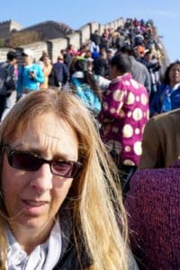 Selfie stick chaos on the Great Wall China