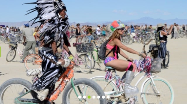 Crazy scene at Burning Man for Families