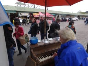 Best Busker of Pike Place Market in Seattle: the piano man