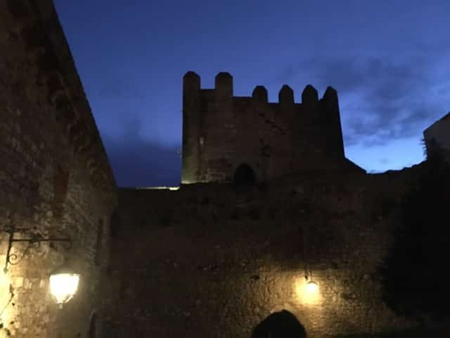 Dusk at the Obidos Castle, Portugal