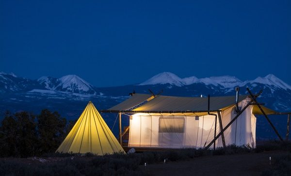 Glamping in Utah at Moab Under Canvas