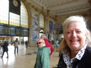 Overwhelmed by the 360* tile decor at Porto's train station in Portugal
