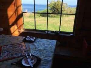 Scrabble - a pastime on relaxed Monhegan Island in Maine