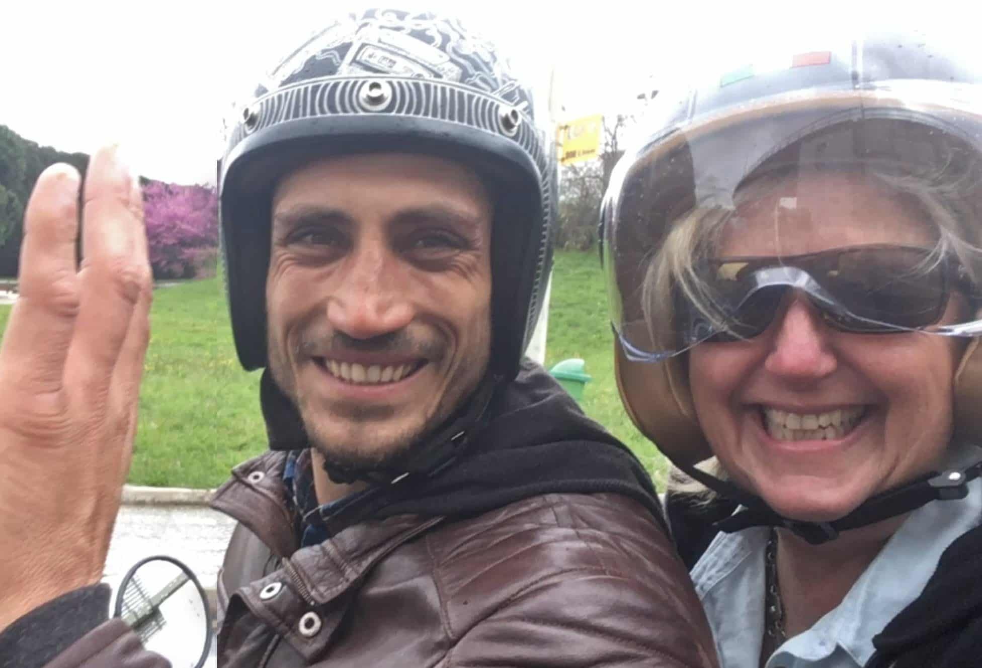 Melanie-CEO-Rare-Finds-Travel-on-scooter-in-Portugal-with-Marco