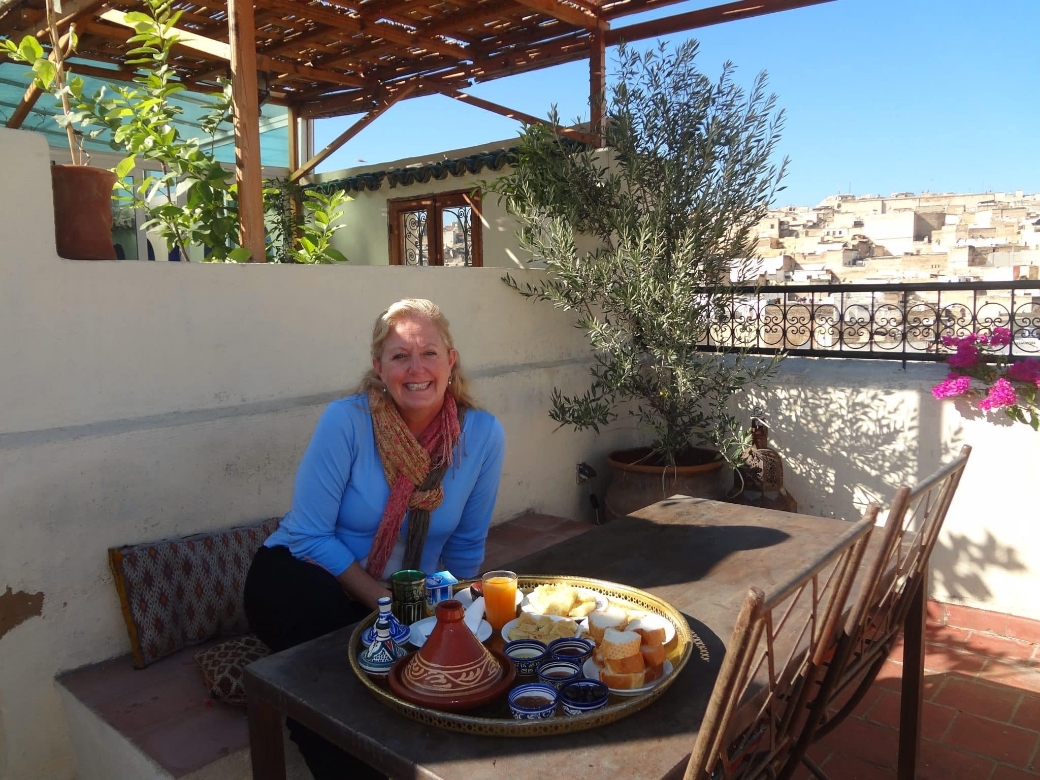 Morocco-Fez-breakfast-at-the-sacred-house